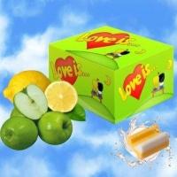 Жевательная резинка love IS  яблоко+ лимон