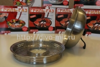 Сковорода Гриль-Газ  D-510 нерж.сталь антипригарным покрытием (съёмная ручка)